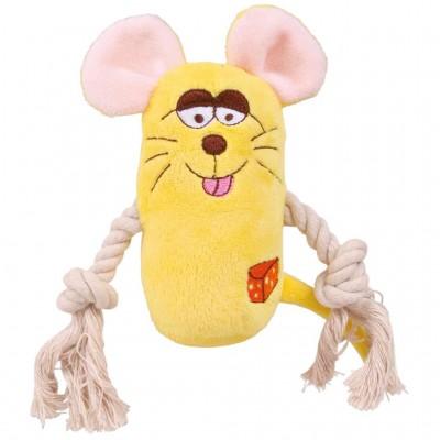 Ratón de peluche con cuerda...